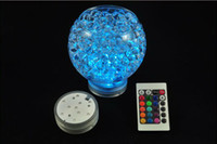 wedding vases - 4 led submersible Wedding Party light Base Vase Remote controlled Led light waterproof Candle Lamp Floralytes Decoration
