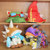 1 set of 4 piece LOL League of Legends HAT PURPLE Dragon Tur...