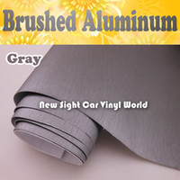 Wholesale High Quality Gray Brushed Titanium Vinyl Wrap For Car Stickers With Air Bubble Free FedEx Size M Roll