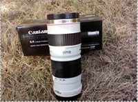 Wholesale 1 Canon EF L USM Shape Lens Mug Stainless Cup Coffee Mug Thermos Cup with Lens Hoop Cover
