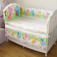 Twill baby comforter knitted - Hot baby bedding sets kids bedding set pc sets cover and filler for the crib bumper head bumper cotton baby crib bedding