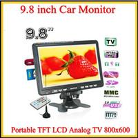 9,8 pulgadas de tarjetas SD / MMC TFT LCD TV analógica Soporte monitor de color de coches reproductor USB Estructura en altavoz