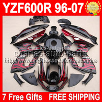 7gifts+ Tank Red flames black For YAMAHA ! Thundercat YZF600R...