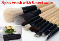 Wholesale Great quality B Mineral Makeup Brushes cosmetics brush amp Round case