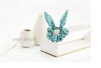 Wholesale Cute Rabbit Ear Ribbon Headband Scarf hair bands ring ropes Ponytail Holder for kids girls