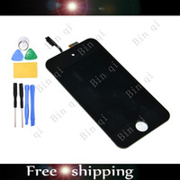 For iPhone Touch 4G ipodtouch - High Quality OEM LCD Assembly Replacement White For iPodTouch G With Free Tools