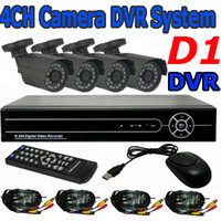 Wholesale Home CCTV Security CH FULL D1 DVR Camera System Motion Detection Alarm Day Night Color Video Surveillance System Mobile View