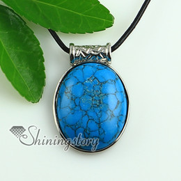 oval turquoise glass opal jade natural semi precious stone pendants for necklaces Hand made jewelry Spsp1477YF0 stone jewelry pendants