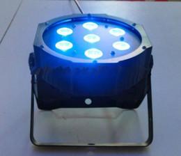 Wholesale 8W in1 Quad LEDs RGBW NUEVO Mega Quadpar Perfil DMX plana Par iluminación de escenario de luz