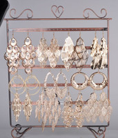 Wholesale 12 Pairs Brand New Womens Hollow Dangle Earrings with Alloy Gold Planted E149G