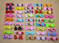 Wholesale 20pcs Color Girl Hair Clips Children Polka Dot Butterfly Bow Hairpin Baby Girl Headwear Hair Jewelry Baby Hair Accessory