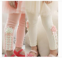 Wholesale Hot selling autumn spring Flower girl tights Girls Leggings Tights baby leggings cotton pretty fashion girl leggings