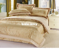 Wholesale 25 designs noble silk embroidered bedding set luxury pc king queen size duvet cover set quilt cover set bed cover comforter