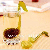 20*8*6CM Coffee & Tea Tools OPP bag hot selling items free shipping! retail novelty Music symbol spoon with Tea Strainer Note T