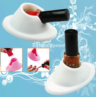 nail polish display - 20pcs Nail Art Polish Varnish Tips Salon Display Bottle Rubber Holder Stand