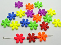 Wholesale HOT mm cute candy color DIY Acrylic Rubber Neon matte big flower spacer loose beads