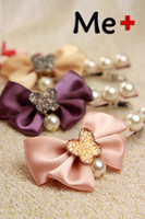 Hair Barrettes & Hairpins   Min.order (mix order)Free shipping bowknot Design Crystal Hair Accessory Clips For Women 2