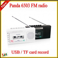 Wholesale HOT SALE Panda FM radio two band radio USB TF tape transcription tape recorders tape recorder gift radio T300 SBB MVP