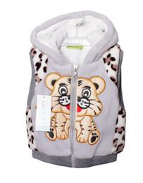 Wholesale 1 spring autumn children outwear waistcoat kids tiger fur vest baby clothing