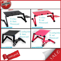 Wholesale Hot Double fan coolingholes Adjusting laptop table rotating and folding leg choose for family ismart420