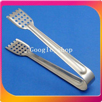Wholesale Stainless Steel Food Cake Ice Sweet Bread Wedding Bar BBQ Clamp Tongs Holder Gripper with Holes