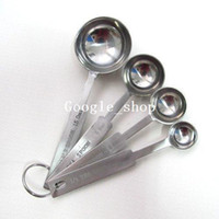 Wholesale hot sale4x Stainless Measuring Spoon Tea Cooking Baking Measure Scoop Cup Kitchen Coffee