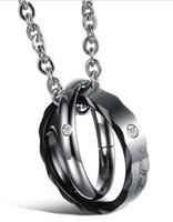 jewelry cheap - 30 off pairs Fashion diamond pendant titanium steel couple necklace Wedding Jewelry jewelry cheap jewelry cheap necklace necklaces