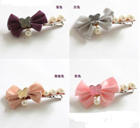 Wholesale 20pcs Handmade Hair Bows with Clips Elegant Ribbon Bows accessorie