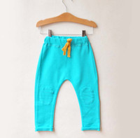 Wholesale Fashion Candy Color Pants Children Clothing Long Trousers Kids Casual Pants Boy And Girl Trouser Harem Pants Child Clothes Casual Trousers
