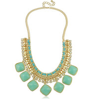 Wholesale Newest Fashion Statement Necklaces for Women Europe Hot Sell Candy Colorful Necklace Jewelry