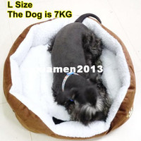 Wholesale Pet Cat and Dog bed SIZE M L Coffee Color HG101