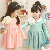 Wholesale Wholesales autumn summer new Baby Kids Clothing Children s girls skirts flower lace fashion tutu lace dress coat outerwear SJ