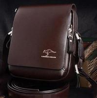 Wholesale Korean fashion men bag business casual briefcase PU shoulder bags Messenger Bag black brown S M L Sizes t5517