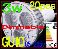 Wholesale 20X New Products High power led lamp W GU10 E27 Led Light Dimmable Led Spotlight Bulbs