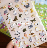Wholesale New sheets set cute D happy cat pvc sticker DIY quality sticker
