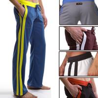 Wholesale Sexy Men s Long Pants Causal Jogging Sports Pants Man Male Boy Trousers Run Running Long Pants Bottoms S M L Colors