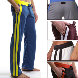 Wholesale New Polyester Sexy Men s Long Causal Jogging Sports Pants Man Male Boy Trousers GYM Run Running Long Pants Bottoms S M L Colors
