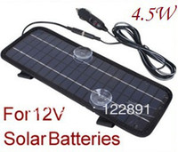 Wholesale HOT Sale W V Solor Battery Charger For Cars Boat Motorcycle Etc Solar Battery Panel With Car Charger