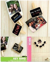 Wholesale Lovely wooden Super Mini Clip blackboard message board