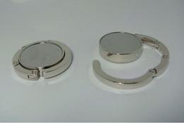 Wholesale 10pcs BLANK Folding Purse Hook DIY Handbag Hanger Holder