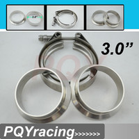 Wholesale 3 quot V Band clamp flange Kit Stainless Steel Clamp SUS304 Flange For turbo exhaust downpipe