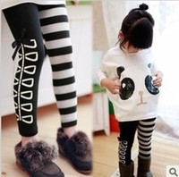 cotton batting - 2013 Spring Autumn Fashion Cute Years Girl s Cartoon Pattern Cotton Two piece Sets Kid s Bat wing Sleeve Sweater Striped Leggings