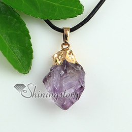 amethyst quartz natural semi precious stone gold plated necklaces pendants Fashion jewelry necklace Spsp1689YF0 handmade fashion jewelry