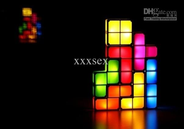 Novelty Lamp Crossword : 2017 Diy Tetris Constructible Desk Lamp Light Novelty Recesky 3d Puzzle Lamp Night From Xxxsex ...