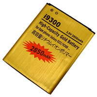Wholesale New mAh High Capacity Gold Replacement Rechargeable Battery for Cell Phone Samsung Galaxy SIII S3 S III I9300 I