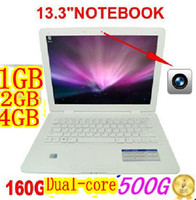 Wholesale DHL inch notebook ultrabook laptop PC with Intel Atom D2500 dual core WIFI BZ