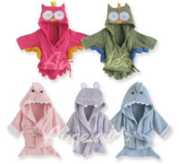 Wholesale Animal Baby hooded bathrobe baby bath towel bath terry children infant bathing robe LZ O0022