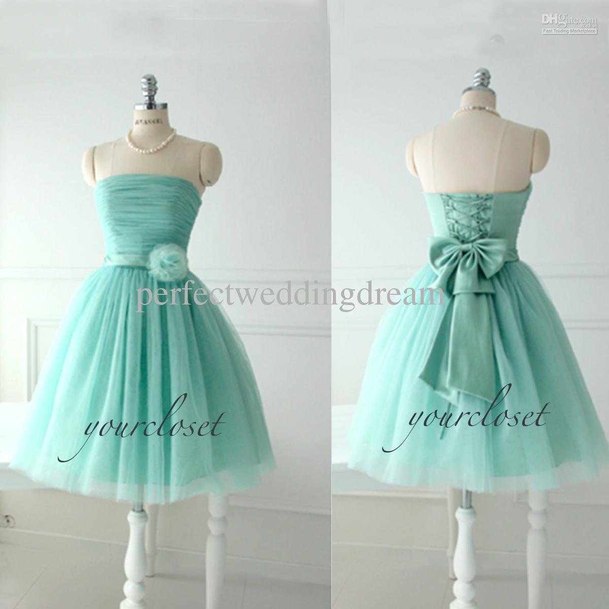 Light Teal Bridesmaid Dress - Missy Dress