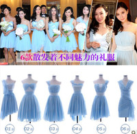 Wholesale 2013 Beach Bridesmaid Dress Chiffon Different Style One Shoulder Sweetheart Sash Asymmetrical Choose Size Looks Below Size Chart First