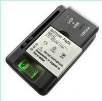 Universal Inteligente del LCD Indicador de Cargador de batería Para samsung GALAXY S4 I9500 S3 I9300 NOTA 3 S5 con salida usb NOS cobran UE AU PLUG